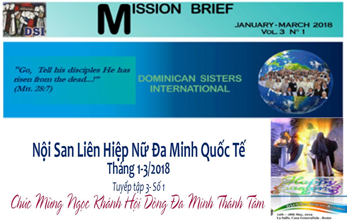 Nội San Liên Hiệp Nữ Đa Minh Quốc Tế -Chúc Mừng Ngọc Khánh Dòng Đa Minh Thánh Tâm