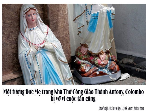Đức Thánh Cha khóc thương những cuộc tấn công Ngày Chúa Nhật Phục Sinh tại Sri Lanka