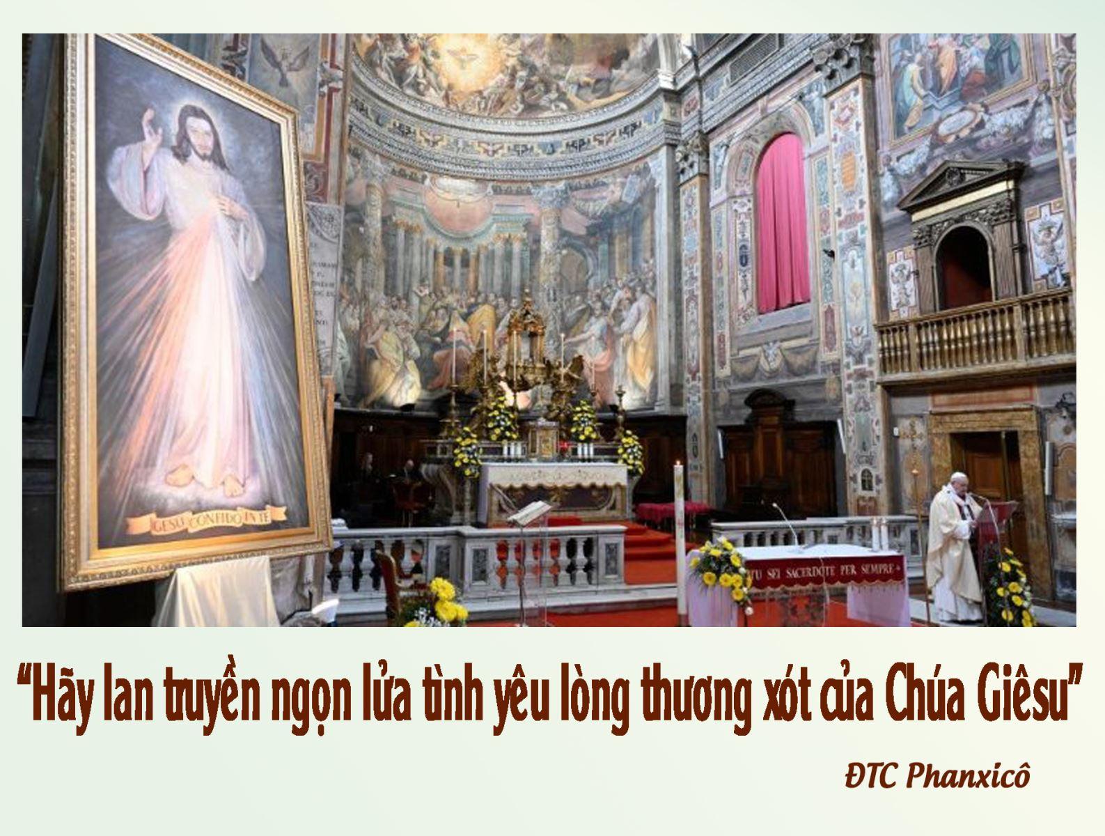 """Đức Thánh Cha Phanxicô: """"Hãy lan truyền ngọn lửa tình yêu lòng thương xót của Chúa Giêsu"""""""