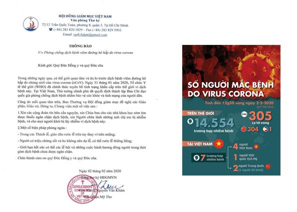 HĐGMVN thông báo v/v Phòng chống dịch bệnh viêm đường hô hấp do virus corona