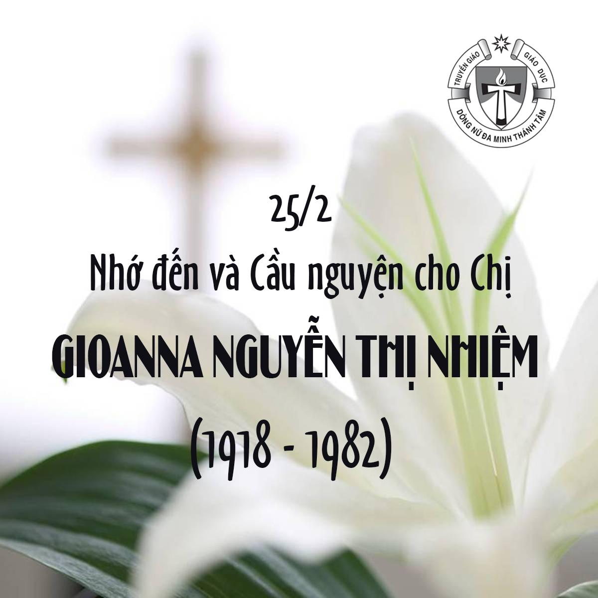 GIỖ CHỊ GIOANNA NGUYỄN THỊ NHIỆM (1918 - 1982)