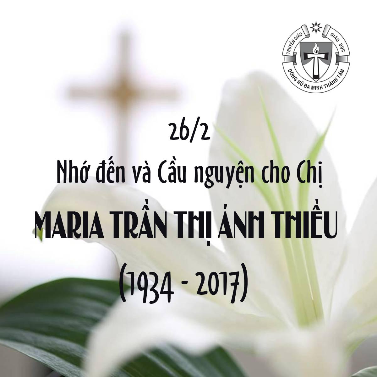 GIỖ CHỊ MARIA TRẦN THỊ ÁNH THIỀU (1934 -2017)