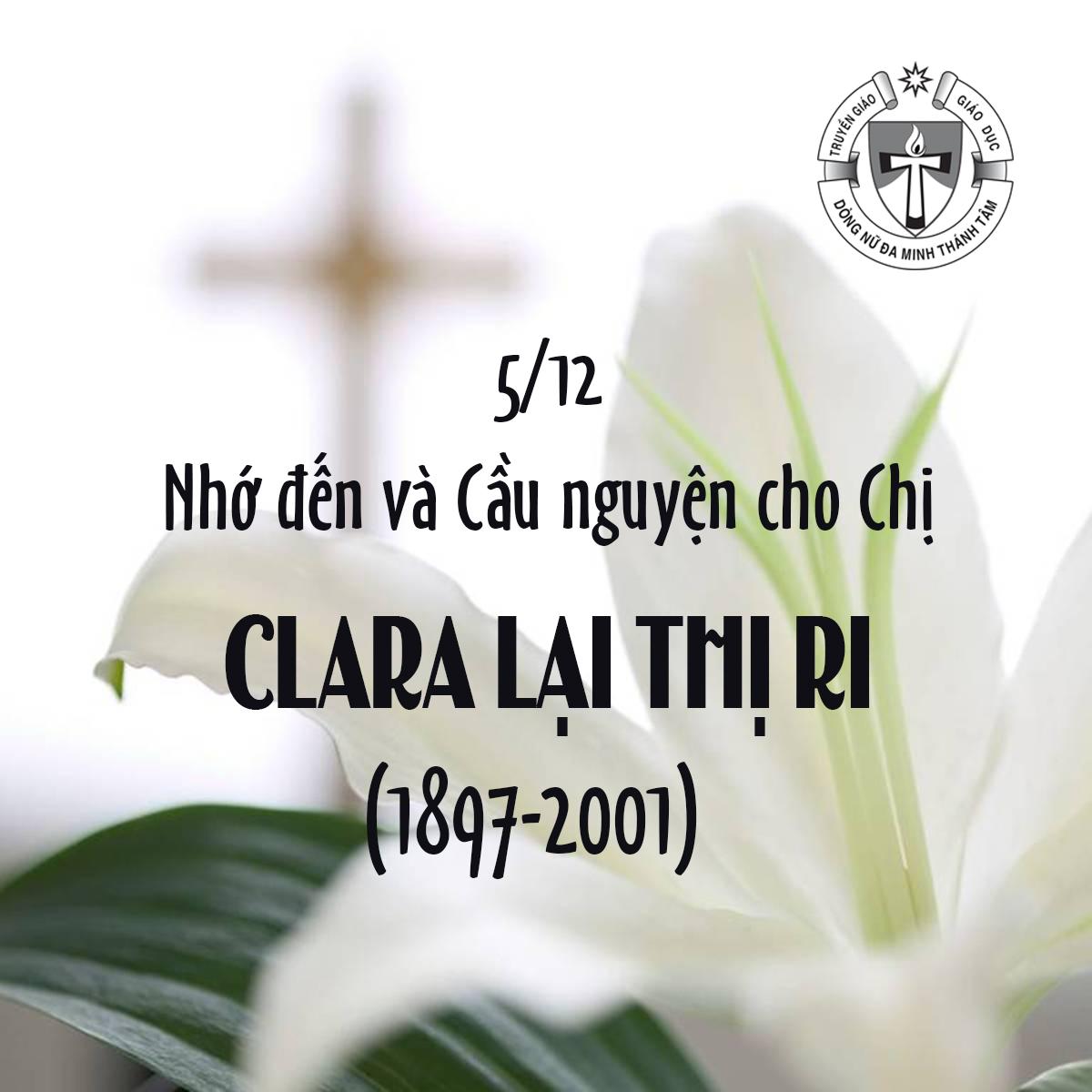 5/12: GIỖ CHỊ CLARA LẠI THỊ RI