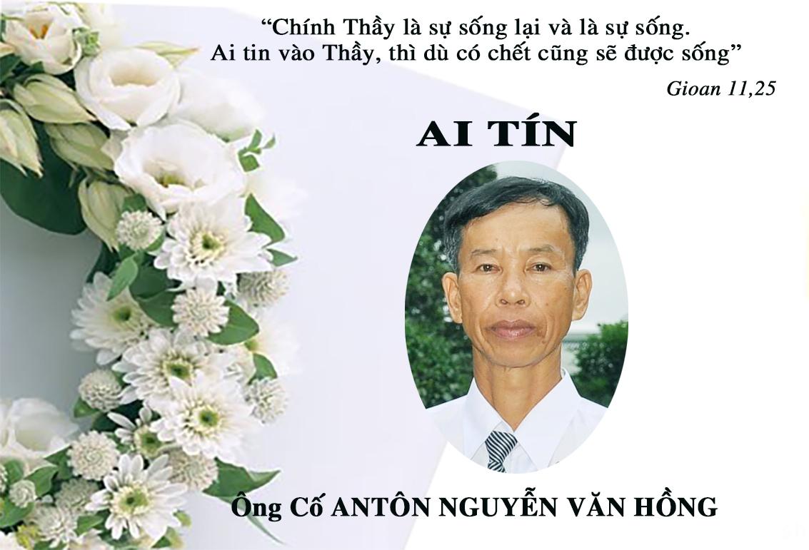 ÁI TÍN:  ÔNG CỐ ANTÔN NGUYỄN VĂN HỒNG, Thân Phụ Sr. Terexa Nguyễn Thị Hằng qua đời