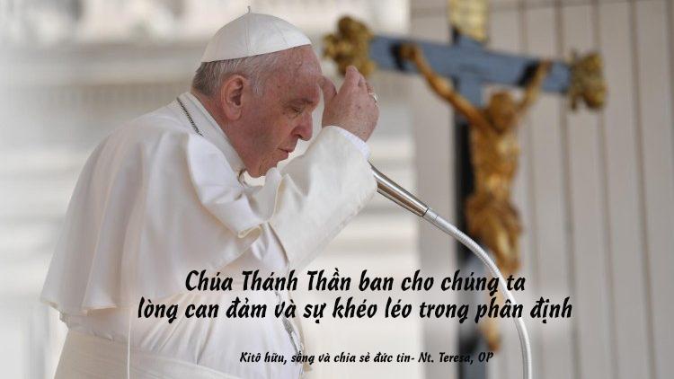 Đức Thánh Cha với khách hành hương: Chúa Thánh Thần ban cho chúng ta sự can đảm, phân định tốt.