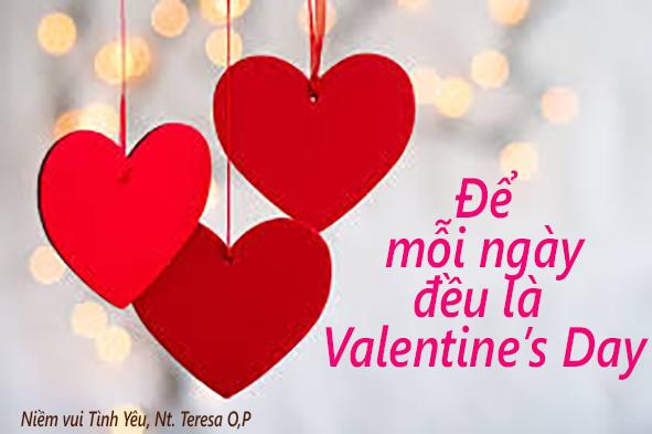 Tám cách thức giúp bạn biến mỗi ngày trở thành những ngày Valentines