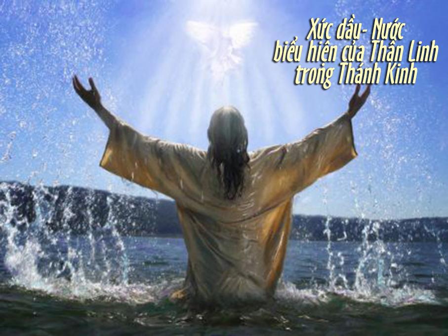 Giáo lý về Chúa Thánh Thần: Xức Dầu và Nước là các Biểu Hiệu của Thần Linh trong Thánh Kinh
