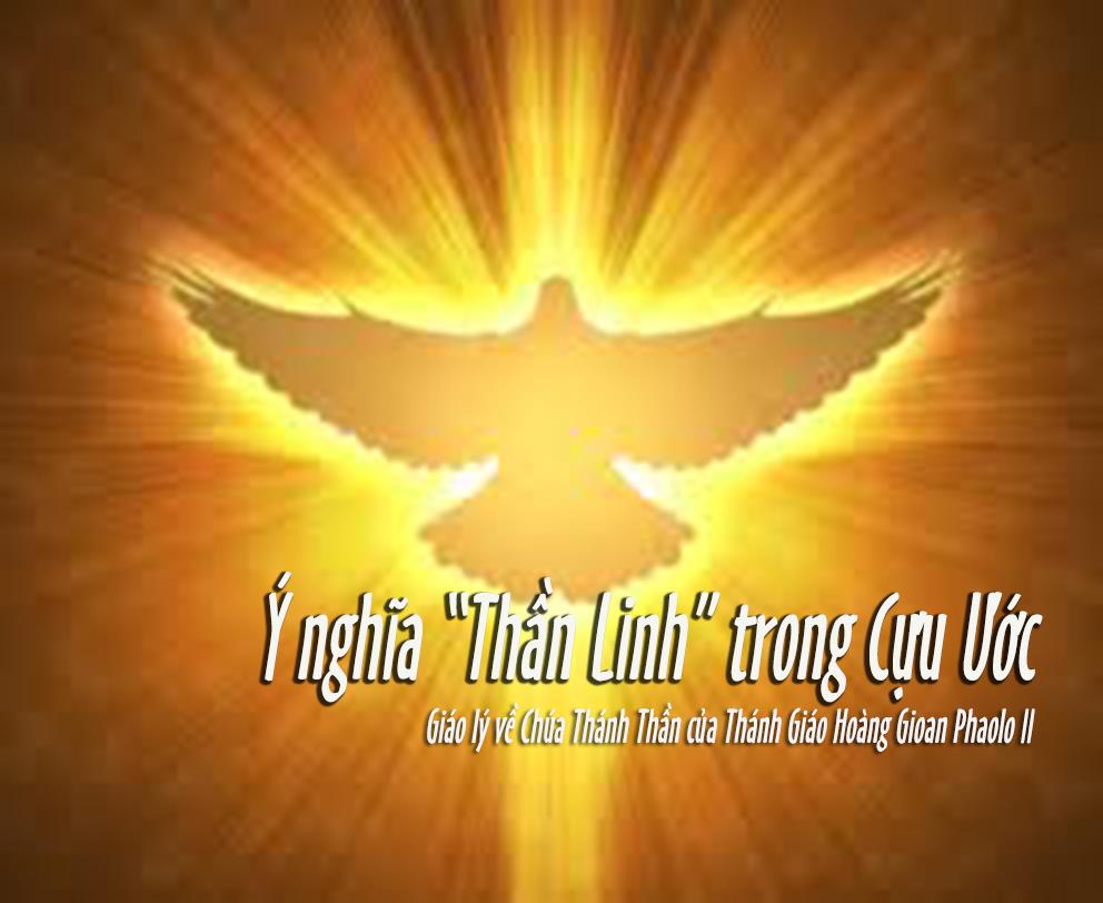 Giáo lý về Chúa Thánh Thần: Ý Nghĩa ``Thần Linh`` trong Cựu Ước- Thánh GH Gioan Phaolo II