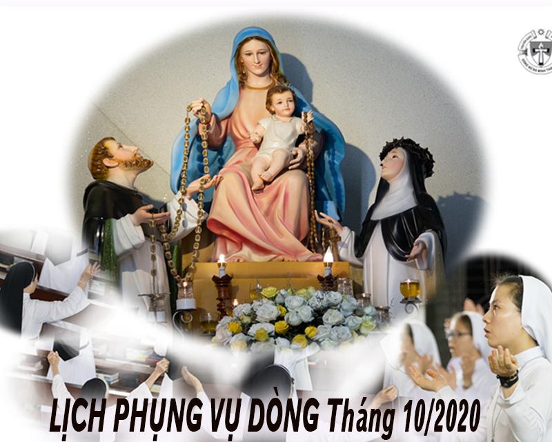 Lịch Phụng Vụ Dòng 10/2020