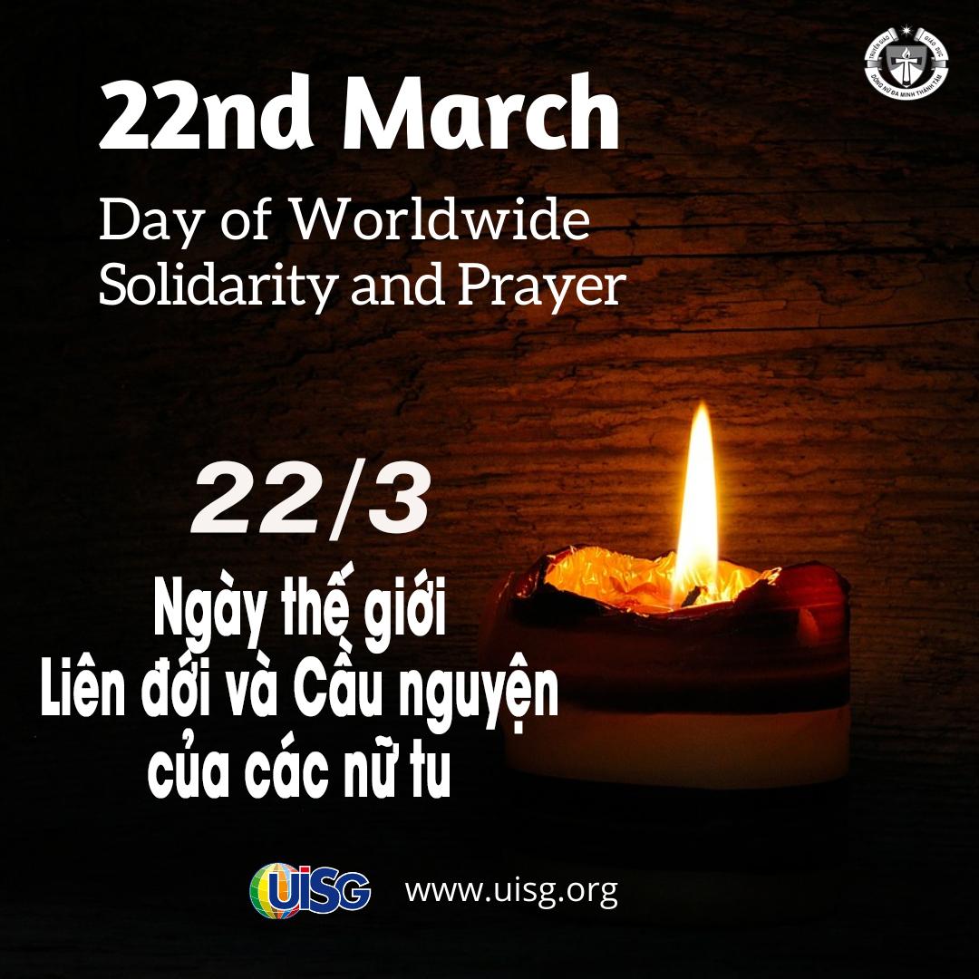 Chúa Nhật 22/3: Ngày Thế giới Liên đới và Cầu nguyện của các nữ tu