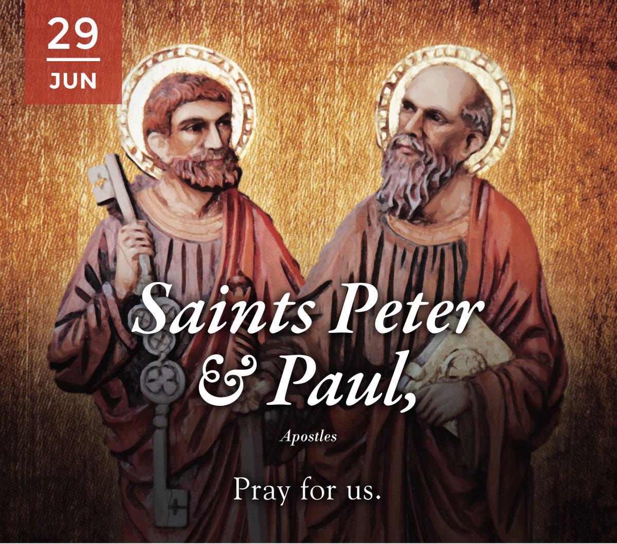 HAI CON NGƯỜI, HAI ƠN GỌI, HAI CỘT TRỤ GIÁO HỘI: Lễ Thánh Phêrô, Phaolô Tông đồ.