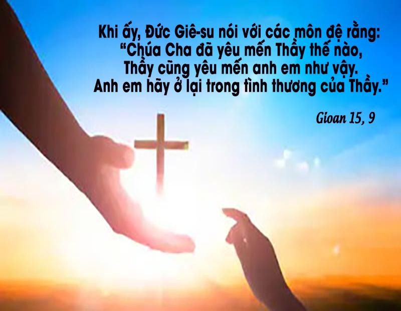 Ở lại trong tình yêu của Chúa, mục tiêu đời chúng ta. Suy niệm Lời Chúa Thứ Năm Tuần V Phục Sinh