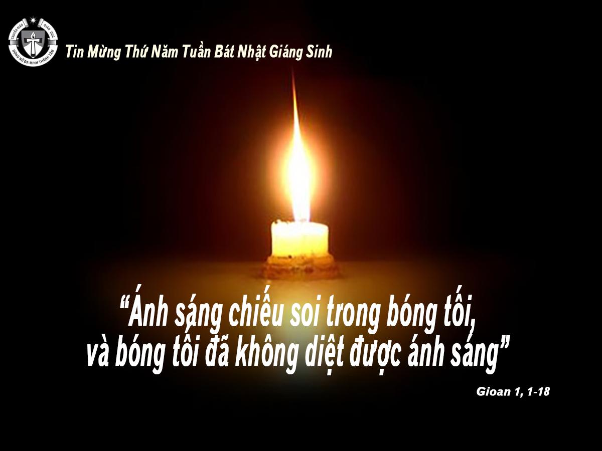 Ánh sáng chiếu vào bóng tối. Suy niệm Lời Chúa Thứ Năm Tuần Bát Nhật Giáng Sinh.