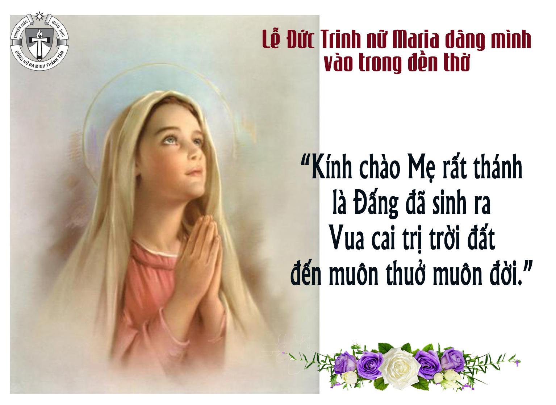 Lễ Đức Mẹ dâng mình vào trong Đền Thờ - Lễ Nhớ buộc