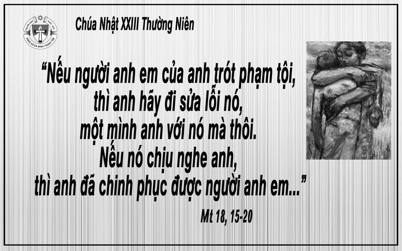 Khi tình yêu sửa lỗi. Suy niệm Lời Chúa Chúa Nhật XXIII Thường Niên