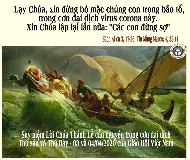 Vững tin giữa cơn nguy khốn. Suy niệm Lời Chúa Thánh Lễ cầu nguyện trong đại dịch- Toàn quốc - Giáo Hội Việt Nam.