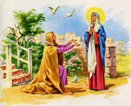 Suy niệm Lời Chúa Thứ Hai Tuần IV Mùa Vọng: NIỀM VUI CHIA SẺ NIỀM VUI NHÂN LÊN